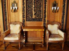 interior do palácio vorontsov, alupka, crimeia foto