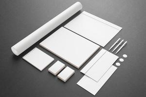artigos de papelaria em branco / conjunto de identificação corporativa foto