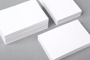 cartões de negócios foto