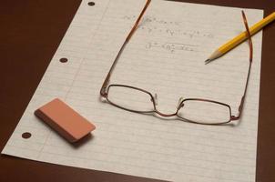lição de matemática foto