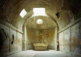 termas, banhos romanos, pompéia foto
