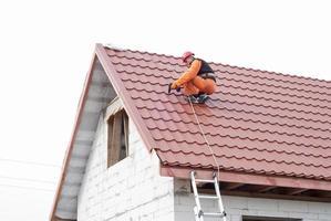 instalação de um telhado