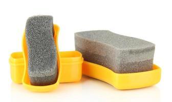 esponjas de brilho de sapato, isoladas no branco