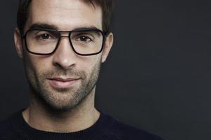close-up do homem adulto médio foto