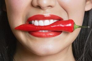 boca da mulher foto