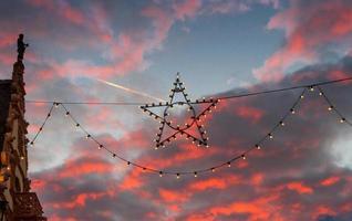 closeup estrela de natal foto