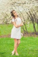 menina linda primavera foto