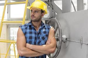 engenheiros industriais no local foto