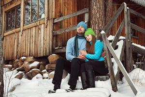 jovem casal apaixonado foto