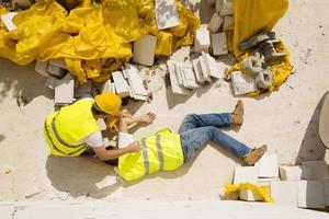 acidente de construção