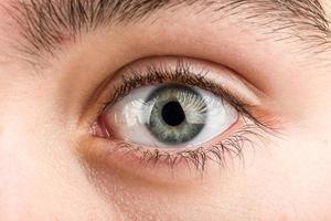 macro de olho adolescente