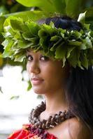 menina havaiana foto