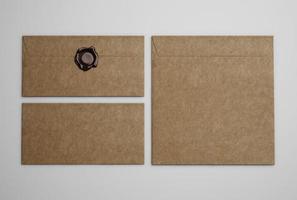 envelopes marrons do vintage foto