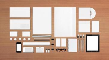 artigos de papelaria em branco / modelo de identificação corporativa