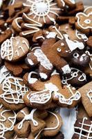 Biscoitos natalinos. feliz Ano Novo