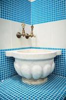 banho turco com telha cerâmica