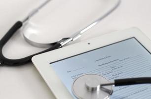 mesa de trabalho médica foto