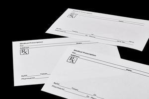 formulários de prescrição médica foto