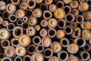 padrão de parede de bambu foto
