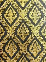 fundo de parede padrão tailandês artes foto