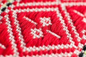 padrão de toalha de mesa, ornamento étnico croata foto