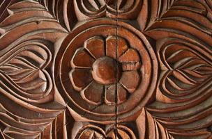 padrão de madeira esculpida foto