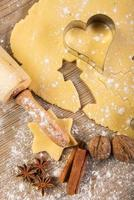 assar natal, biscoitos, rolo, especiarias