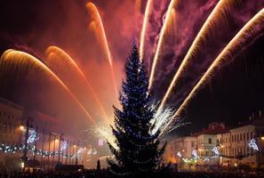 fogos de artifício da véspera de ano novo foto