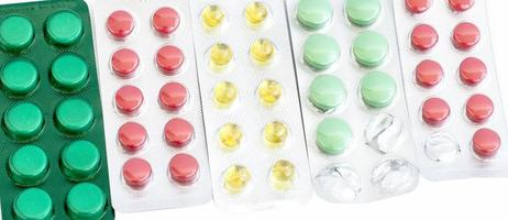 comprimidos diferentes de cores diferentes foto