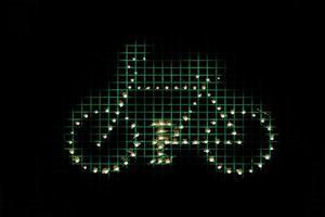símbolo gráfico esquemático com bicicleta - bicicleta simbolo foto