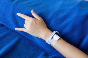 braço do paciente foto