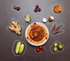 especiarias para alimentos. foto