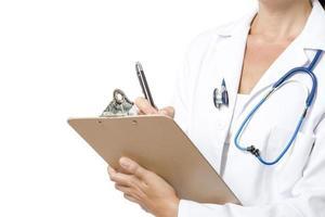 médico escrevendo
