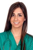 garota médica atraente foto