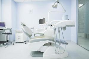 interior do consultório odontológico moderno foto