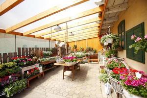 interior da loja de flores foto
