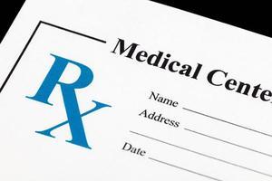 medicamento de prescrição foto