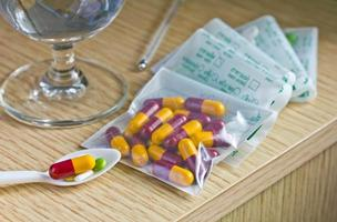 medicação. foto