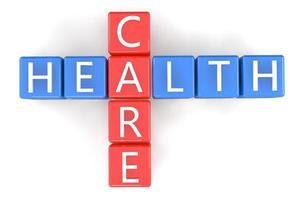 cuidados de saúde de palavras cruzadas foto