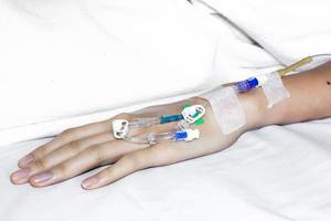 medicamento iv no braço
