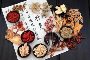 medicina alternativa de acupuntura foto