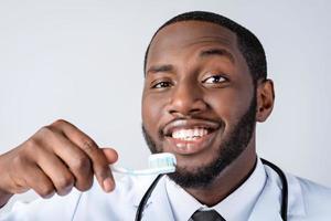 conceito para médico afro-americano foto
