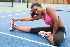 mulher de exercício foto
