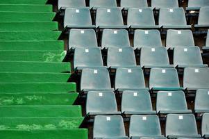 assentos da arena esportiva foto
