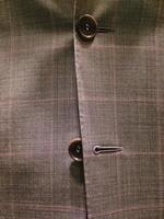 marrom escocês clássico corporativo terno vestido foto