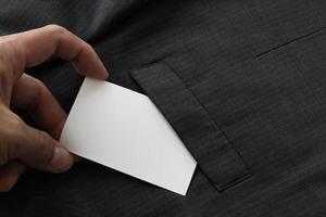cartão de visita em branco pacote de identidade corporativa foto