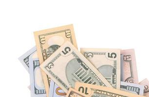 notas de dólar. foto