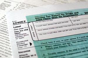 formulário de impostos foto