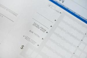formulário de depósito bancário foto