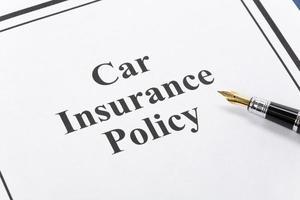 apólice de seguro de carro foto